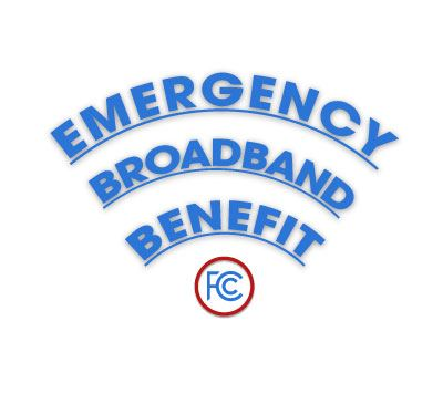 Image of the words Emergency Broadband Benefit